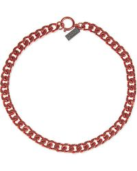 The Kooples Sport | Red Chain Necklace - For Women | Lyst