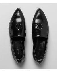 AllSaints | Black Pierced Loafer | Lyst