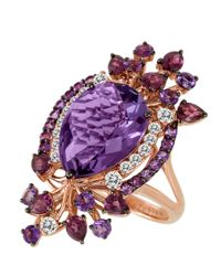 Le Vian | Purple Multicolor Amethyst Ring In 14k Strawberry Gold | Lyst