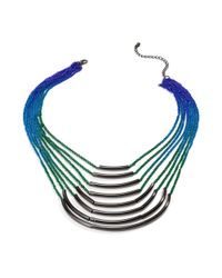 Material Girl - Gray Gunmetaltone Rainbow Ombre Chain Necklace - Lyst
