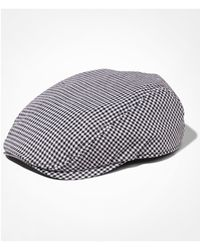 Express - Black Gingham Check Driver Hat for Men - Lyst
