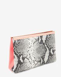 Ted Baker - Orange Reni Leather Folded Clutch Bag - Lyst