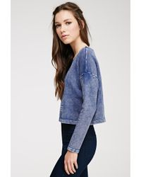 Forever 21 - Blue American Graphic Burnout Sweatshirt - Lyst