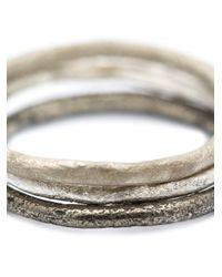 Pearls Before Swine | Metallic Set Of Three Band Rings | Lyst
