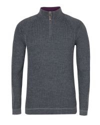 Ted Baker | Gray Knitted Jumper With Contrast Yoke for Men | Lyst