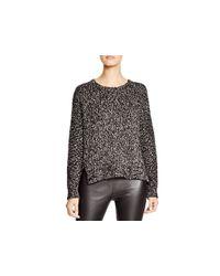 VINCE | Black Textured Crew Neck Sweater | Lyst