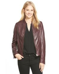 Lamarque | Purple La Marque Lambskin Leather Jacket | Lyst