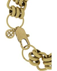 Tory Burch - Metallic Abella Goldtone Crystal Cross Bracelet - Lyst