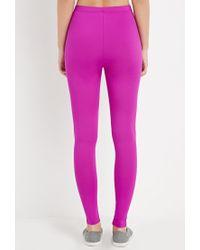 Forever 21 - Purple Nylon-blend Leggings - Lyst