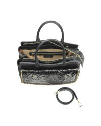 Roberto Cavalli - Aphrodite Jaguar Printed Haircalf And Black Leather Tote - Lyst