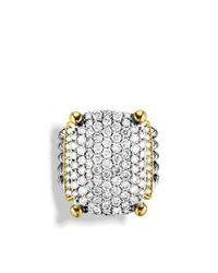David Yurman - Metallic Wheaton Ring with Diamonds and Gold - Lyst