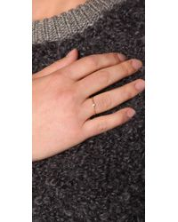 Jacquie Aiche | Ja Diamond Waif Bezel Ring - Yellow Gold | Lyst