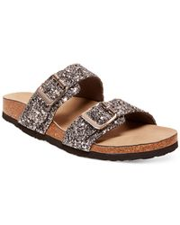Madden Girl | Metallic Brando Glitter Faux-Leather Sandals | Lyst