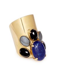 Ela Stone - Blue 'Maïko' Lapis Lazuli Onyx Hematite Ring - Lyst