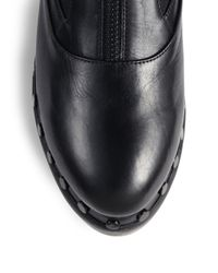 Opening Ceremony - Black Charlotte Clog Leather Ankle Boots - Lyst