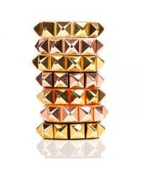 Linea Pelle | Orange Grayson Wide Stud Bracelet | Lyst
