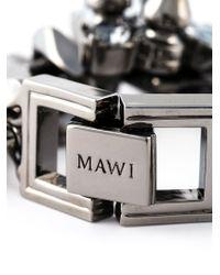Mawi - Metallic Studded Crystal Bracelet - Lyst