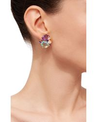 Bounkit | Purple Quartz And Amethyst Earrings | Lyst