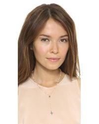 Ela Rae - Orange Yaeli Cross Necklace Peach Moonstone Multi - Lyst