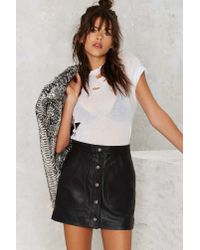 Nasty Gal - Black Ladyland Leather Skirt - Lyst