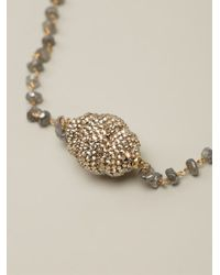 Roni Blanshay - Metallic Beaded Necklace - Lyst