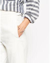 ASOS | Metallic Open Ended Bar Bangle Bracelet | Lyst