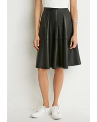 Forever 21 | Black Faux Leather A-line Skirt | Lyst