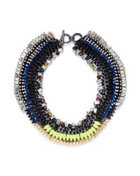 Venna | Multicolor Crystal Spike Collar Necklace | Lyst
