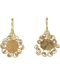 Judy Geib | Metallic Flower Drop Earrings Size Os | Lyst