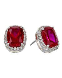 Judith Jack | Radiance Crystal/Red Corundum Stud Earrings | Lyst
