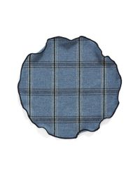 Alexander Olch | Blue Plaid Wool Pocket Round for Men | Lyst