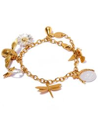 Alex Monroe - Metallic Gold-plated Greatest Hit Charm Bracelet - Lyst