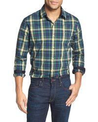 Victorinox - Blue 'morgan' Tailored Fit Plaid Sport Shirt for Men - Lyst