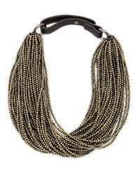 Brunello Cucinelli | Metallic Beaded Choker Necklace | Lyst