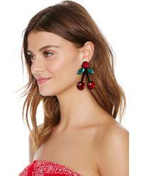 Nasty Gal | Red So Cherry Earrings | Lyst