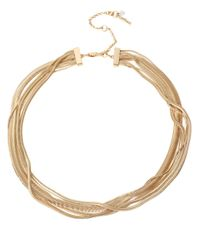 Kenneth Cole | Metallic Goldtone Snake Multi-chain Necklace for Men | Lyst