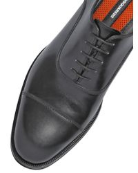 DSquared² | Black Waxed Leather Oxford Lace-up Shoes for Men | Lyst
