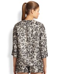 Giambattista Valli - Black Metallic Jacquard Top - Lyst