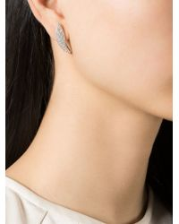 V Jewellery - Metallic 'marquise Curve' Lobe Earrings - Lyst