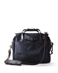 Filson | Blue Cotton Twill Briefcase Computer Bag for Men | Lyst
