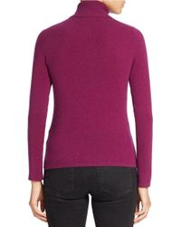 Lord & Taylor | Purple Petite Cashmere Turtleneck Sweater | Lyst