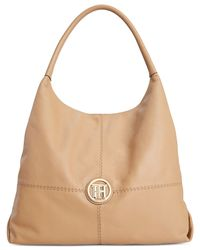 Tommy Hilfiger | Natural Jaclyn Casual Leather Hobo | Lyst