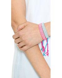 Chan Luu - Beaded Woven Bracelet Neon Blue - Lyst