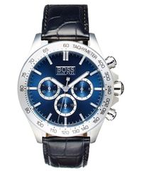 BOSS - Blue 'ikon' Chronograph Leather Strap Watch for Men - Lyst