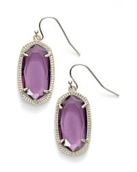 Kendra Scott | Purple 'dani' Stone Drop Earrings | Lyst