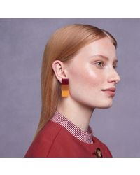 Trademark | Red Resin Clip-on Earrings | Lyst