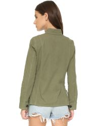Tory Burch | Green Side Lace Jacket | Lyst