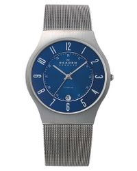 Skagen - Metallic 'grenen' Stainless Steel Case Watch for Men - Lyst