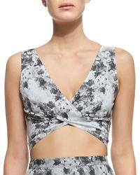Robert Rodriguez - Black Paillette-embellished Linen-jersey Top - Lyst