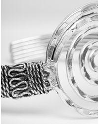 ASOS - Metallic Swirl Arm Cuff - Lyst